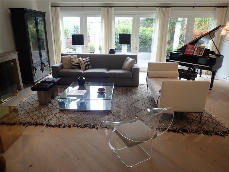 LIVING ROOM W/SOFA BENCH, (2) STOOLS, MARBLE SIDE TABLE, (2 ...