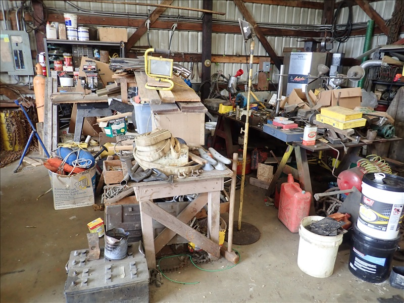 WOOD WORK TABLES, RADIAL ARM SAW, HAND TOOLS, FASTENERS